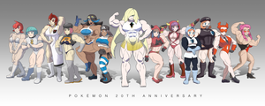 Pokemon 20th Anniversary FBBs - Villainous Teams by DepravedDefense