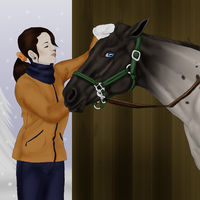 Oden: Preparing for Christmas Dressage by Moshpikachu