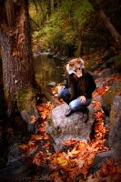 The Autumn Coyote Mask by NaturePunk
