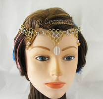 Silver and Gold Chainmaille Circlet by merigreenleaf