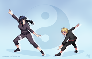 Hinata vs Bolt Commission by shock777