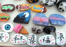 Misc. Painted Rocks 4 by Nevuela