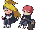 Deidara and Sasori by Oshawat19