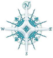 Frozen Compass Rose by willowdream
