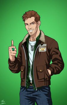 Hal Jordan (Earth-27) commission by phil-cho