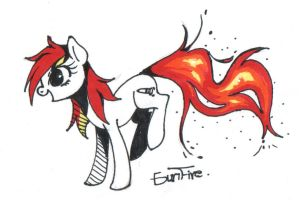 Gunfire on Fire by PegaSisters82