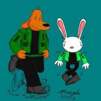 Sam and Max - Lords of the Dance by pheeph