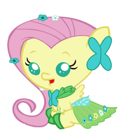 Baby Fluttershy's Gala Dress by Beavernator