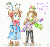 Merry Christmas.Tay and Jess by Ishisu