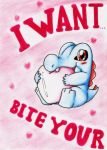 Totodile Bite Valentine by GTS257-CT