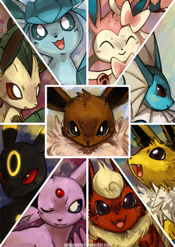 Eeveelutions by Zayger