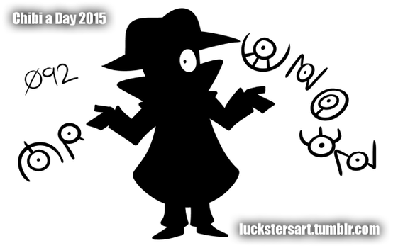 Chibi a Day 2015: 092: Mr. Unown by Luckster