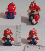 Mario charm by CemeteryDrive87
