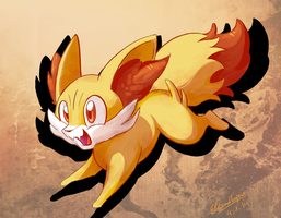Fennekin by eleanart-approved