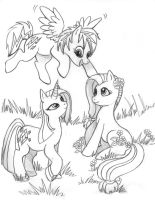MLP FiM Original Ponies. by Pharoahess