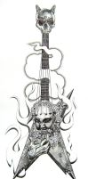 Dimmebag Guitar by ADNstudio