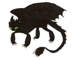 Toothless by MommaCabbit