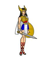 My DCAU Queen Hippolyta by Woodclaw