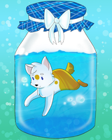 Chibi jar Koi by Ezzyfantasyworld