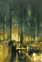 Another rainy  night in San Francisco. by PascalCampion