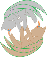 Ying-Yang Pony Base MS Paint Friendly by WhatHappensToABook