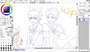 ANE x Vocaloid WIP by sleii