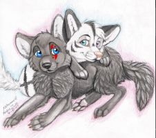 Playfull Pups by NatsumeWolf