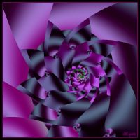 Purple Spiral by Brigitte-Fredensborg