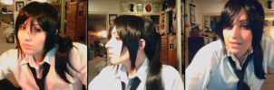 Kuroh Yatogami Makeup and Wig Test by Antiquity-Dreams