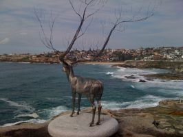 Sculptures by the sea - stag by ScottieDoctor