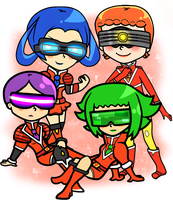 The Team Flare Girls wants to Battle ! by Miiette