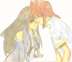 Tales of the Abyss :Luke+Tear: by Kite-Mitiko