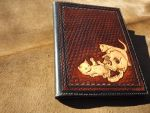 leather book Skull and Kittens by CreationsMJF