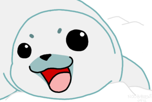 Baby Seal Smile by Noobynewt