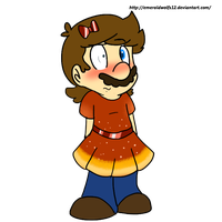 mario in a dress by MariobrosYaoiFan12