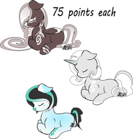 Adopts 75 points each (open) 1 left by Danie-me
