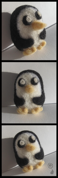 Needle Felted Adventure Time Penguin by Amif