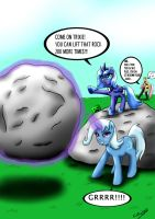 Luna is training Trixie.Part 1 by CIRILIKO