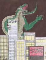Godzilla in the City by SteveRGR