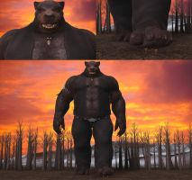 Bruce the giant mega Werebear 3 by Spino2006