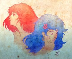 Kimber and Stormer by kathrynlayno