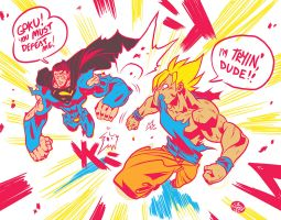 Superman vs Goku by reyyyyy