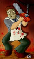 Leatherface by OzzKrol