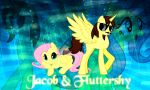 Jacob and Fluttershy Wallpaper by NaziZombiesKiller
