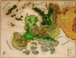 The Map of Erset - Jeffrey Gibson by DePassage