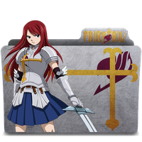Erza Scarlet - Fairy Tail Icon Folder by TheKevinMevlana