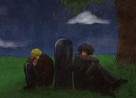 SH: On his grave by yuminica