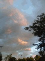 Evening clouds by Deliteful
