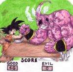 Goku vs Buu by Dokuro