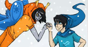 John and vriska by paradoxCol0nial
